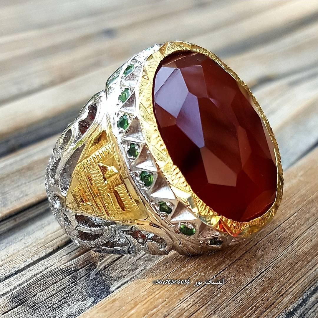 صورة خاتم تحفه من العقيق اليماني لجلب الحبيب والرزق-أفضل شيخة روحانية نور 0096176904084